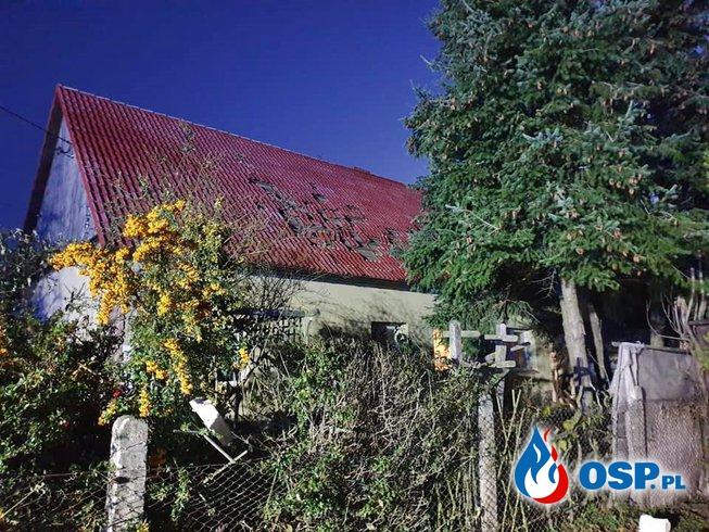 Część domu zawaliła się po wybuchu gazu pod Brzegiem. Jedna osoba jest ranna. OSP Ochotnicza Straż Pożarna