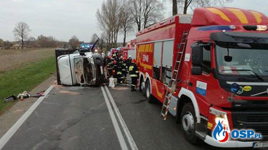 Tragiczny wypadek DK 9 - Alojzów OSP Ochotnicza Straż Pożarna