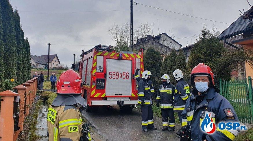 Alarm 36/2020- Pożar budynku mieszkalnego. OSP Ochotnicza Straż Pożarna