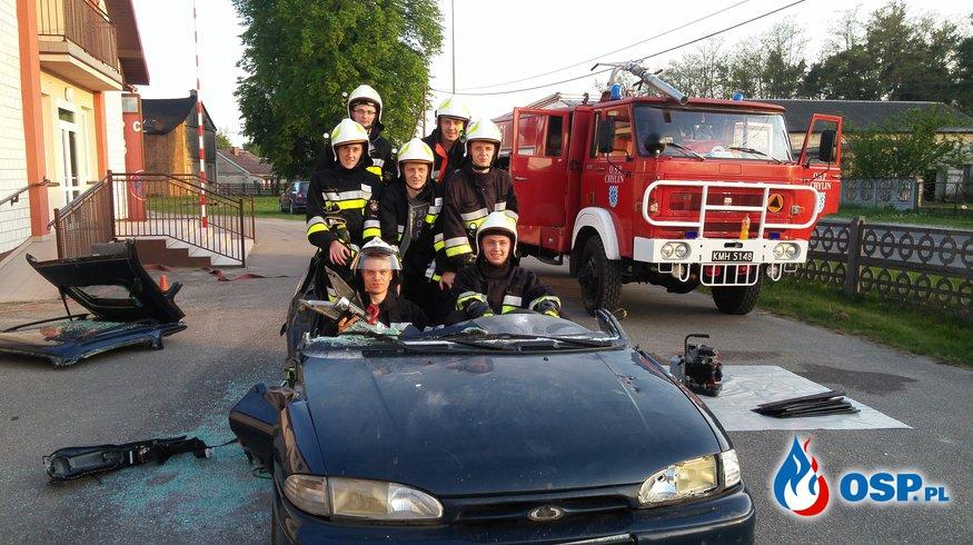 Ćwiczenia z zakresu ratownictwa technicznego oraz podstaw pierwszej pomocy. OSP Ochotnicza Straż Pożarna