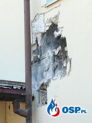 Pożar przyłącza elektrycznego oraz gniazdo szerszeni OSP Ochotnicza Straż Pożarna