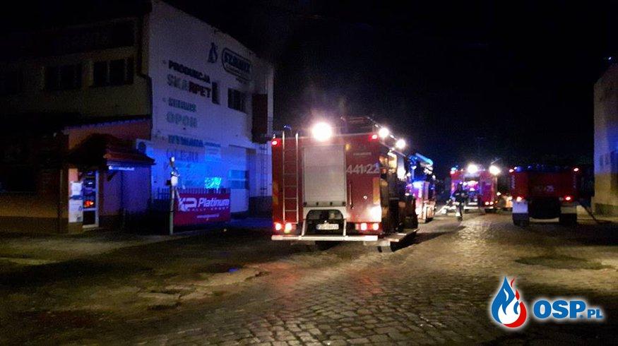 27.08.2017 Pożar w zakładzie produkcyjnym OSP Ochotnicza Straż Pożarna