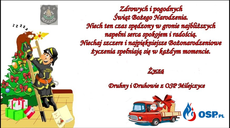 Bożonarodzeniowe Życzenia OSP Ochotnicza Straż Pożarna