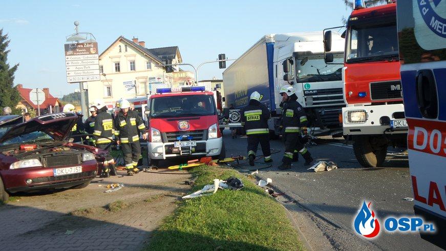 Tragiczny wypadek na DK8 OSP Ochotnicza Straż Pożarna