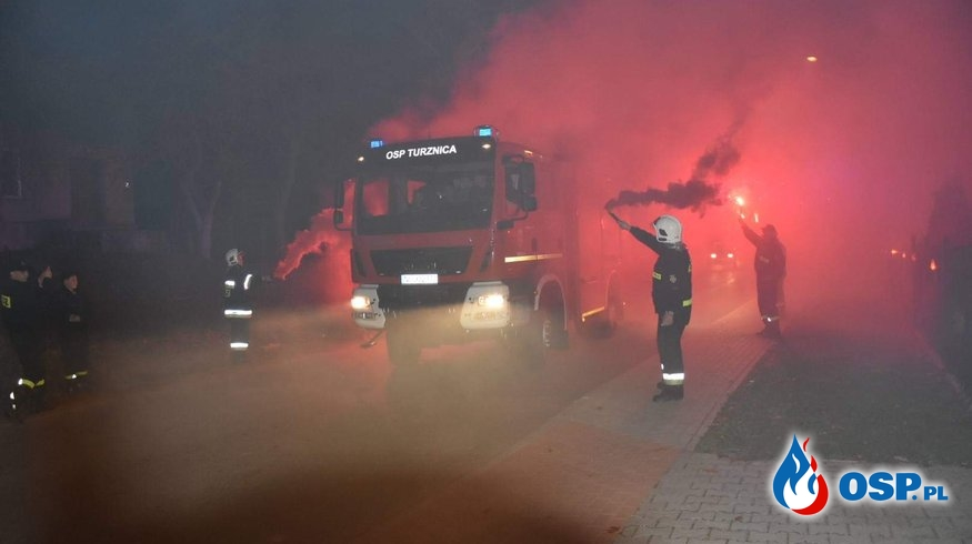 Powitanie nowego Średniego samochodu ratowniczo-gaśniczego w naszej jednostce .OSP TURZNICA (FOTO,FILM) OSP Ochotnicza Straż Pożarna