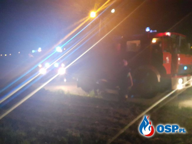 Pożar budynków gospodarczych w Dębinie OSP Ochotnicza Straż Pożarna