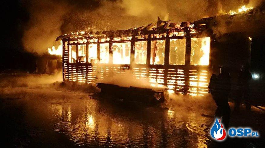 Pożar stolarni w miejscowości Samborowo OSP Ochotnicza Straż Pożarna