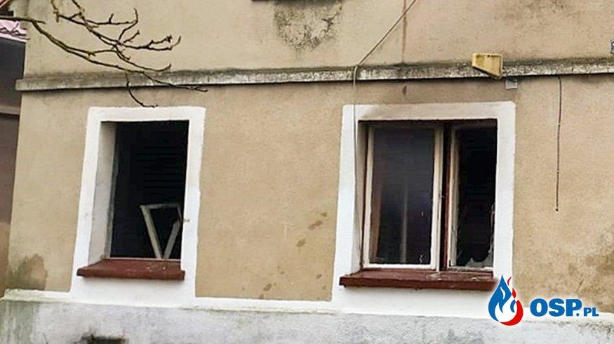 Wybuch gazu i pożar. Nie żyje 91-letni mieszkaniec domu. OSP Ochotnicza Straż Pożarna