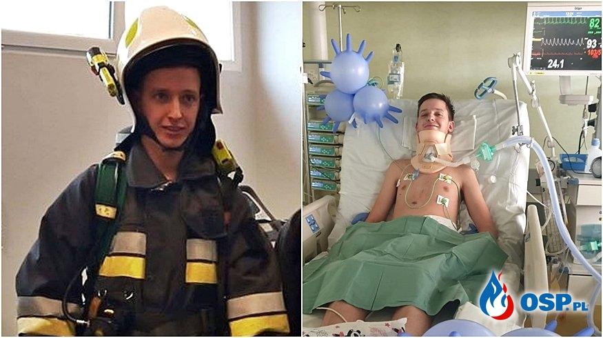 Młody strażak OSP Kistowo jest sparaliżowany po wypadku. Potrzebna pomoc! OSP Ochotnicza Straż Pożarna