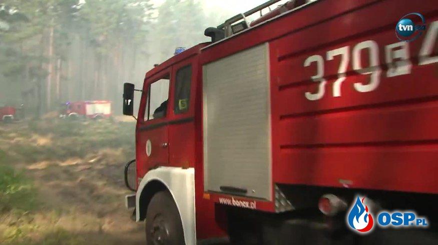 Sześć samolotów gaśniczych w akcji pod Gorzowem Wielkopolskim OSP Ochotnicza Straż Pożarna