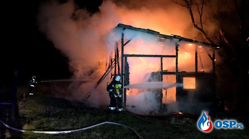 5/2020 Pożar budynku gospodarczego w Krupinie OSP Ochotnicza Straż Pożarna
