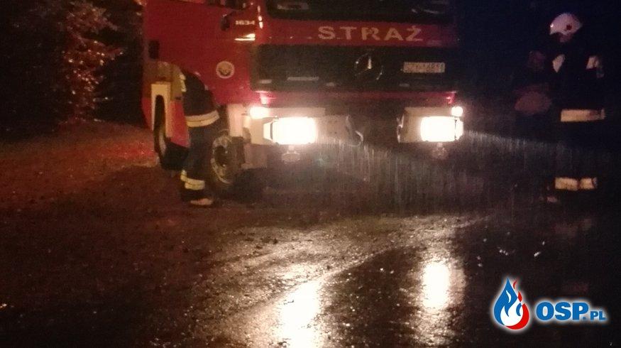 Plama oleju! OSP Ochotnicza Straż Pożarna