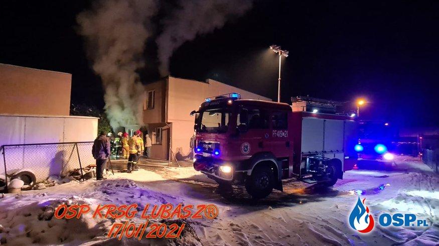 Pożar kotłowni OSP Ochotnicza Straż Pożarna