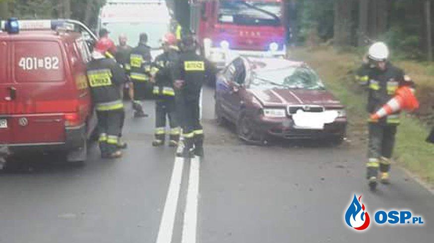 25.08- Dwa wypadki jeden po drugim OSP Ochotnicza Straż Pożarna