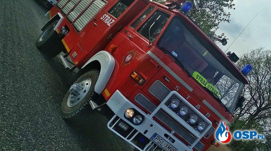 Pożar trawy w Wólce Orchowskiej OSP Ochotnicza Straż Pożarna