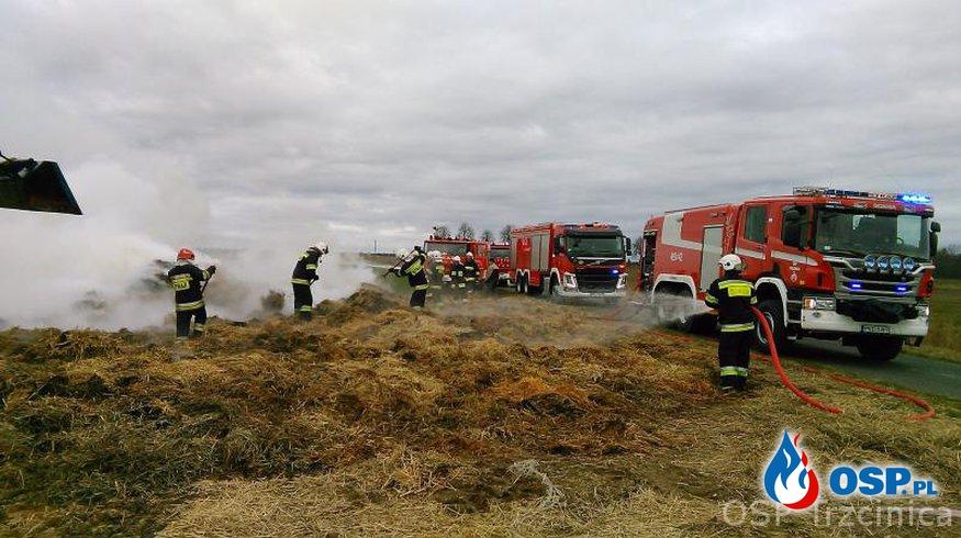 Pożar stogu Szarlota OSP Ochotnicza Straż Pożarna