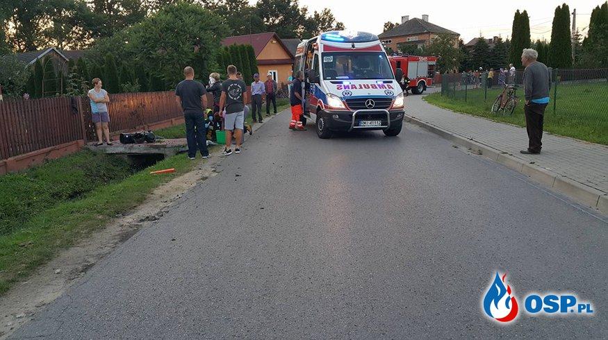 Wypadek w miejscowości Łączki Brzeskie OSP Ochotnicza Straż Pożarna