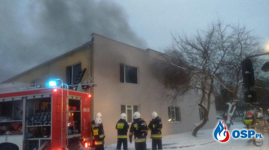 Pożar pomieszczeń biurowych w PPM Potulice OSP Ochotnicza Straż Pożarna