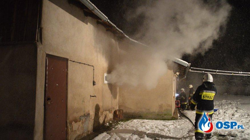 Pożar budynku mieszkalnego! OSP Ochotnicza Straż Pożarna