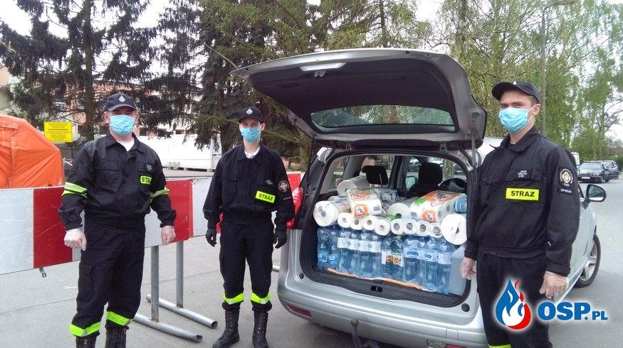 Przekazanie darów dla Szpitala w Słupcy - Strażacy Medykom OSP Ochotnicza Straż Pożarna