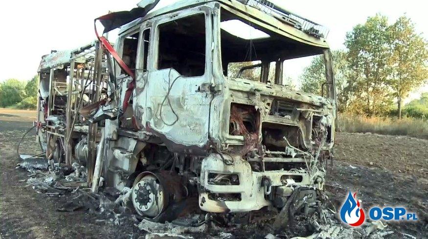 MSWiA obiecuje pomoc strażakom, którym spłonął wóz gaśniczy OSP Ochotnicza Straż Pożarna