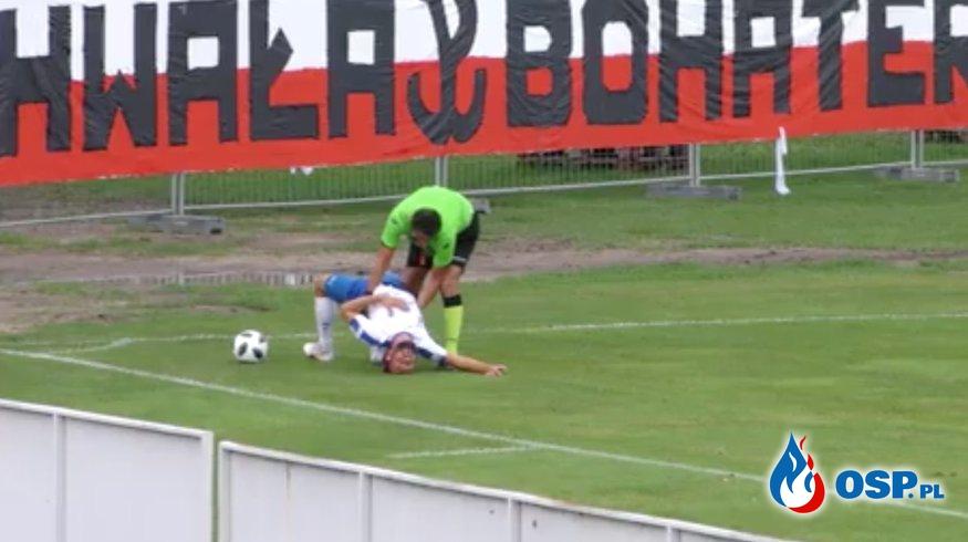 Strażak-sędzia piłkarski uratował życie zawodnikowi podczas meczu! OSP Ochotnicza Straż Pożarna