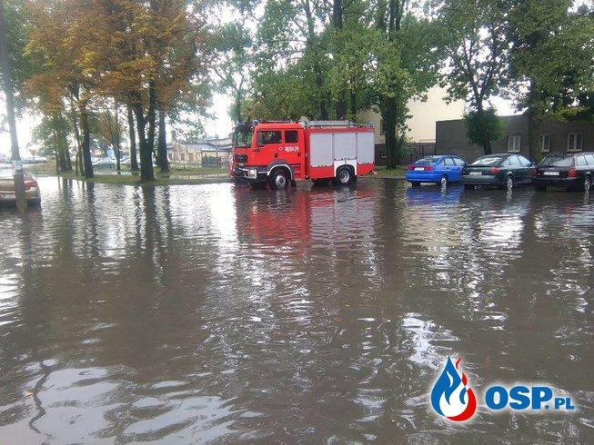 10.08.17 07:57 - ZALANIE/POMPOWANIE WODY, INOWROCŁAW- aleja Okrężna OSP Ochotnicza Straż Pożarna