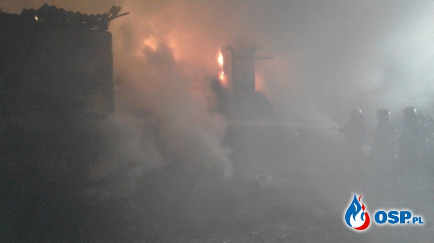 Pożar stodoły w miejscowości Grozimy gm. Grajewo OSP Ochotnicza Straż Pożarna