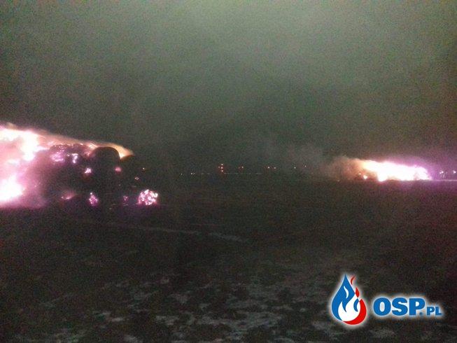 Pożar stogów OSP Ochotnicza Straż Pożarna