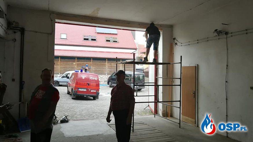 Remont boksu garażowego OSP Ochotnicza Straż Pożarna