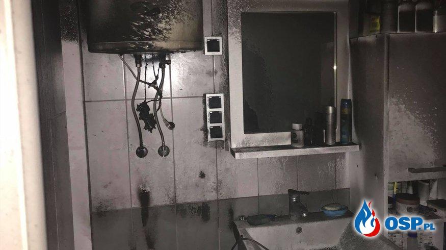 162/2020 Pożar łazienki w bloku OSP Ochotnicza Straż Pożarna