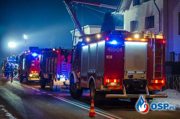 Pożar budynku mieszkalnego w Żędowicach. OSP Ochotnicza Straż Pożarna