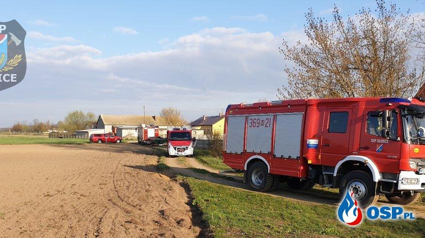 Człowiek topił się w stawie OSP Ochotnicza Straż Pożarna