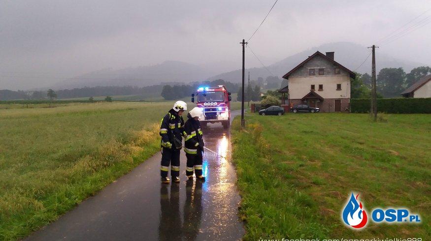 Dwa alarmy: Niewybuch i plama oleju OSP Ochotnicza Straż Pożarna