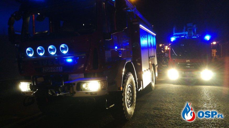 Nocny pożar OSP Ochotnicza Straż Pożarna