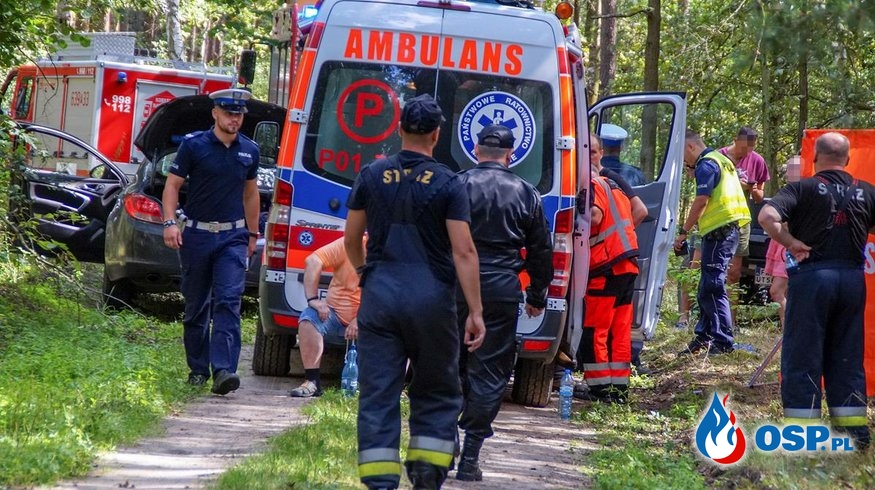 14-letni motocyklista zginął w wypadku w Rakojadach. OSP Ochotnicza Straż Pożarna