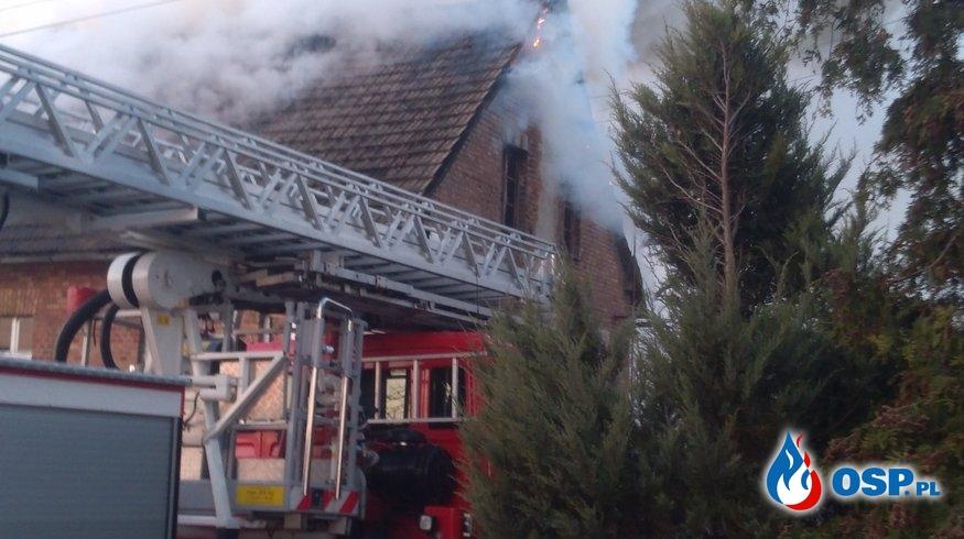 Tragiczny pożar budynku jednorodzinnego w Tupadłach OSP Ochotnicza Straż Pożarna