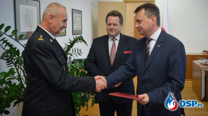 Nowy Komendant Główny Państwowej Straży Pożarnej OSP Ochotnicza Straż Pożarna