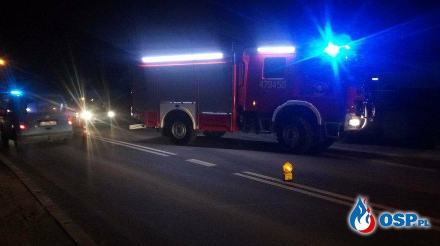 Potrącenie na Partyzantów OSP Ochotnicza Straż Pożarna