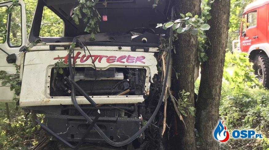Wypadek ciężarówki OSP Ochotnicza Straż Pożarna