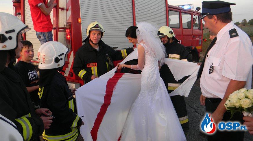 Brama weselna - druha Pawła OSP Ochotnicza Straż Pożarna