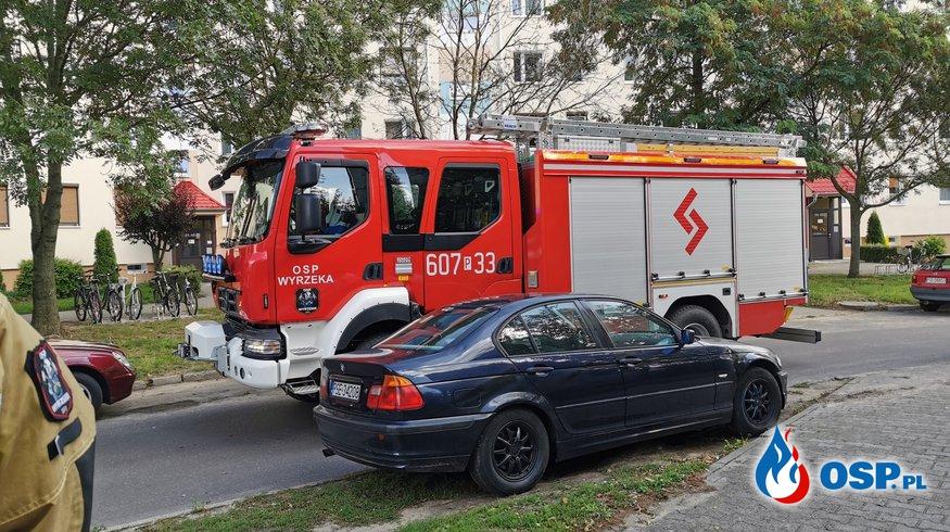 Wyjazdy alarmowe OSP Wyrzeka w miesiącu wrześniu. OSP Ochotnicza Straż Pożarna