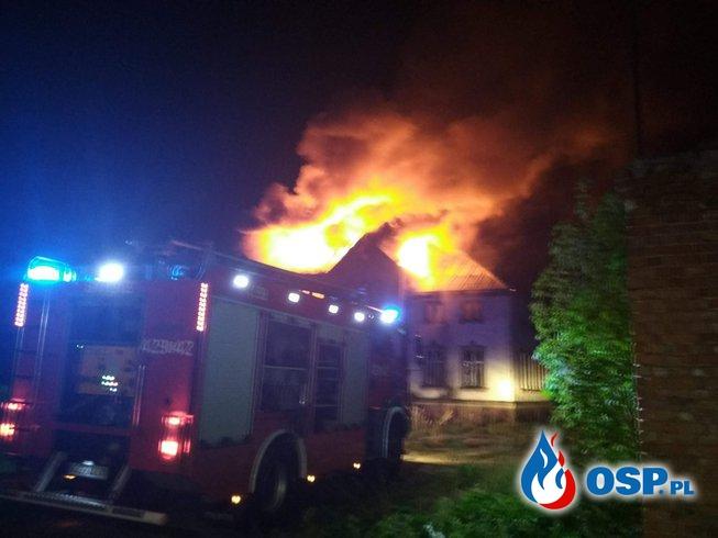 01.05 Pożar Pałacu m. Domisław Górny OSP Ochotnicza Straż Pożarna