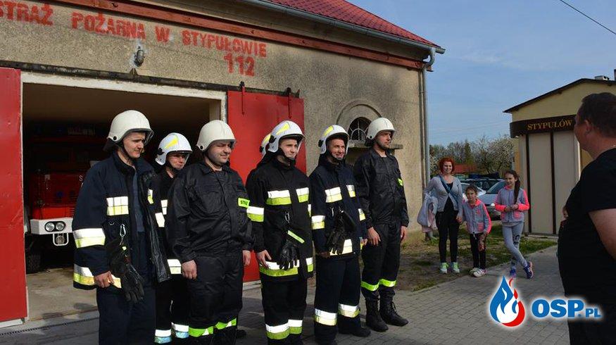 Ćwiczenia druhów OSP Stypułów zorganizoane przez naczelnika OSP OSP Ochotnicza Straż Pożarna