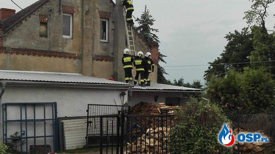 Pożar sadzy w karniszewie OSP Ochotnicza Straż Pożarna