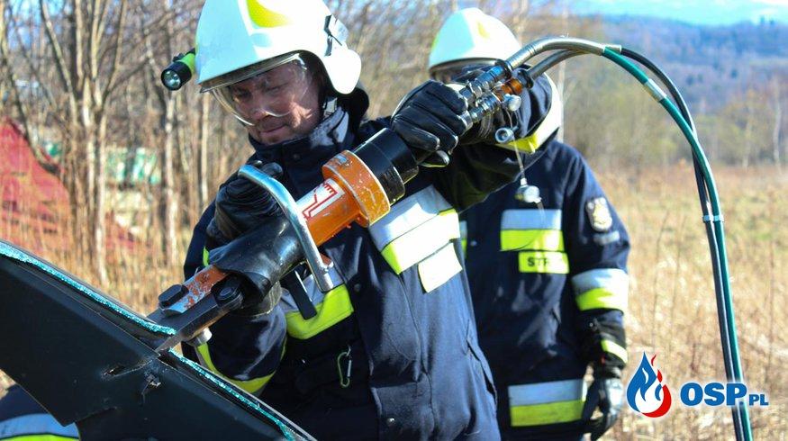 Ćwiczenia z zakresu ratownictwa technicznego. OSP Ochotnicza Straż Pożarna