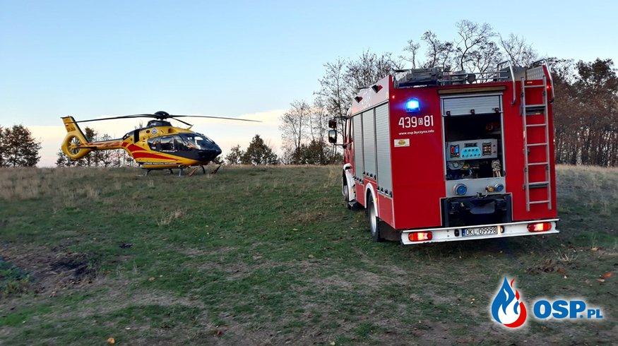 Upadek z dachu i zatrzymanie krążenia - Nasale OSP Ochotnicza Straż Pożarna