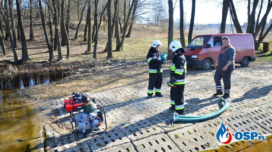 """Ćwiczenia-założenia taktyczne:""""Pożary traw i lasów"""" OSP Ochotnicza Straż Pożarna"""