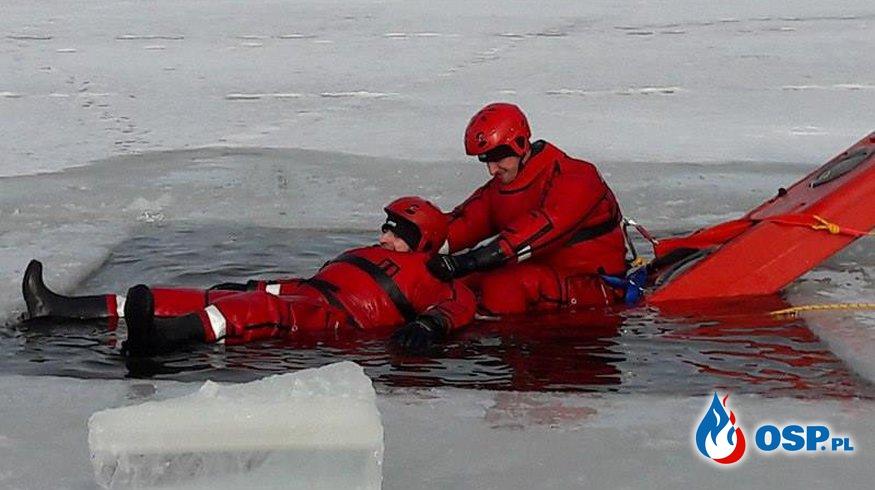 Ćwiczenia ratownictwa lodowego OSP Ochotnicza Straż Pożarna
