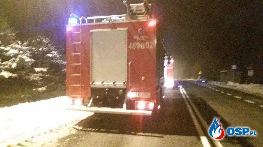Pożar Sadz w miejscowości Pięty. OSP Ochotnicza Straż Pożarna